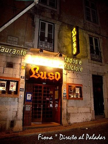 Comer en Lisboa. Café Luso