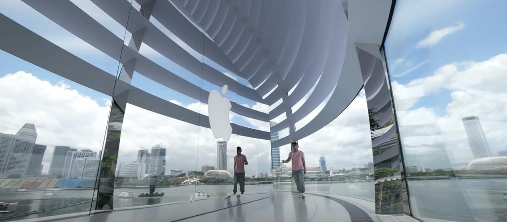 Apple inaugura la Apple Store de Marina Bay Sands y ya tenemos un vídeo de cómo es por dentro