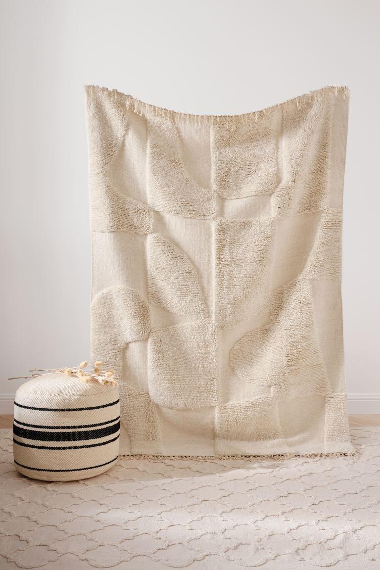 Alfombra texturizada de lana