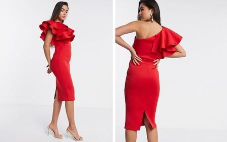 Vestido Rojo Fiesta Lowcost