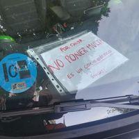 Una aplicación nefasta de la ley, resumida en una foto muy triste tomada en Madrid
