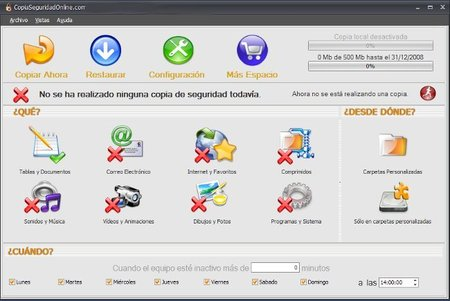CopiaSeguridadOnline, alternativa escalable para llevar nuestras copias a la nube
