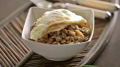 Bibimbap con arroz Thai [videoreceta]