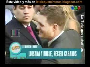 Pues al final Luisana Lopilato le ha dado el sí quiero a Michael Buble