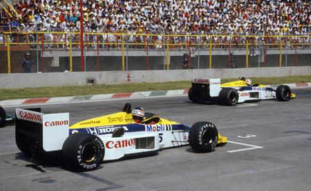 Nigel Mansell Nelson Piquet parrilla México 1986
