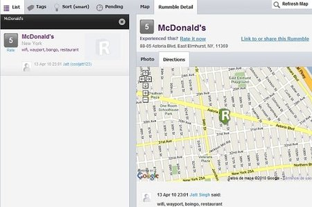 Rummble, recomienda sitios a través de tu móvil