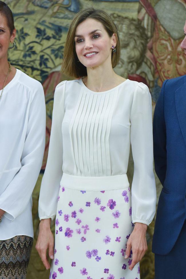 Letizia Look Falda Flores 2