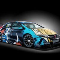 Esta es la espectacular imagen de comic que el Honda Civic WTCC lucirá en Goodwood