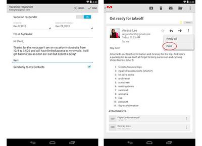 Gmail para Android se actualiza, ahora con respuestas automáticas y soporte para descarga de archivos .zip