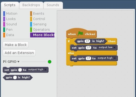 Ahora con Scratch 2.0 tenemos acceso al hardware de la Raspberry Pi
