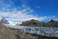 La lengua glaciar Svínafellsjökull en Islandia