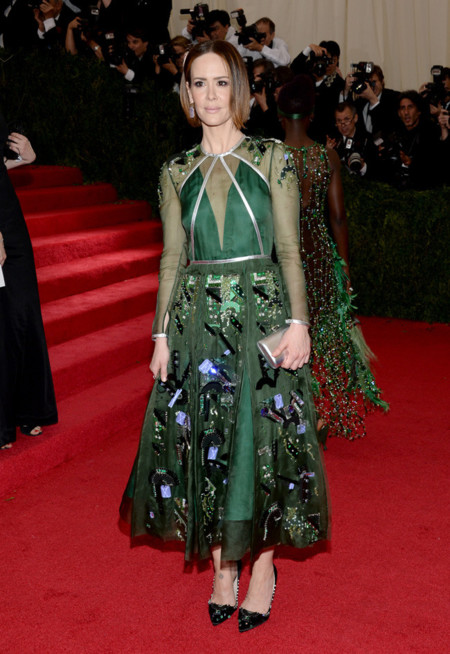 Sarah Paulson Gala MET 2014 peor vestidas