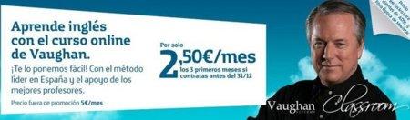 Movistar ofrece el curso online Inglés con Vaughan Classroom a sus clientes de ADSL y fibra por 5 euros al mes