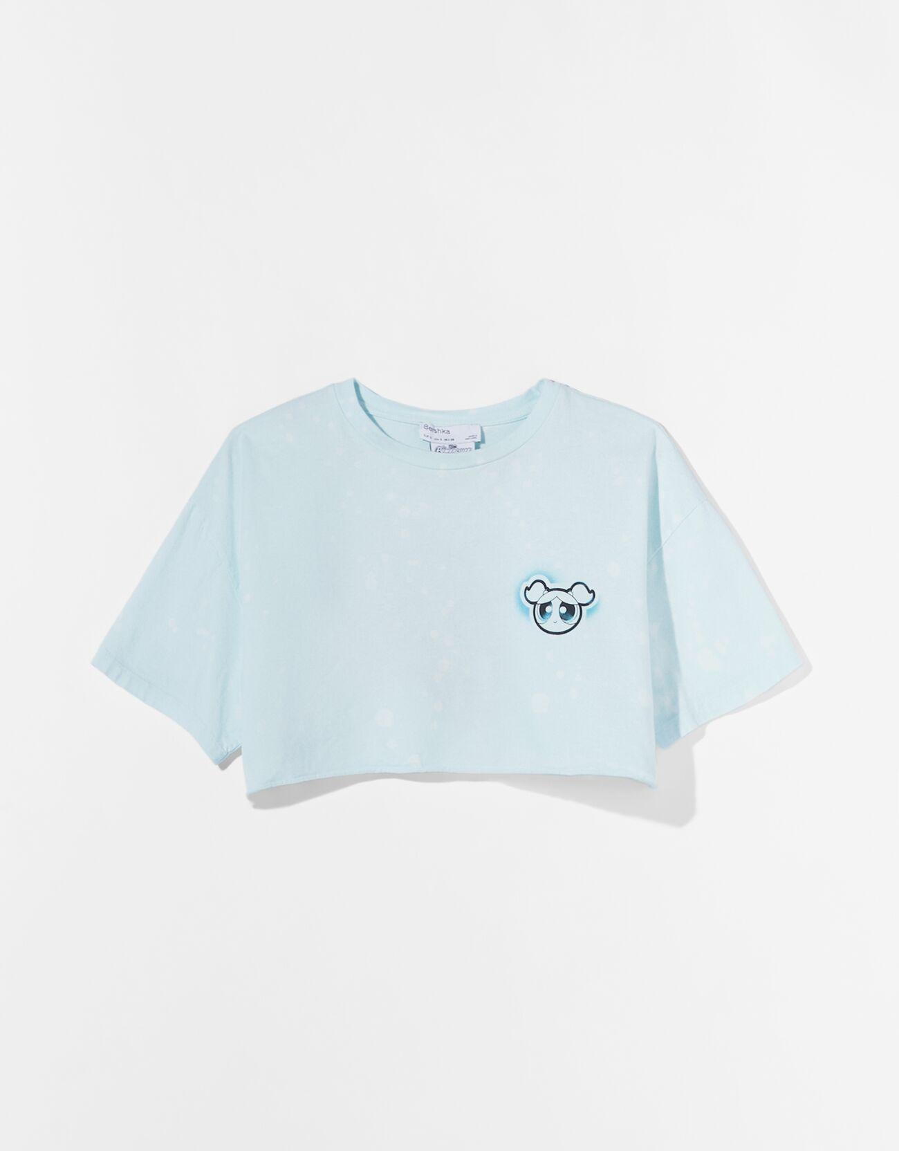 "Camiseta cropped Supernenas ""Burbuja""."