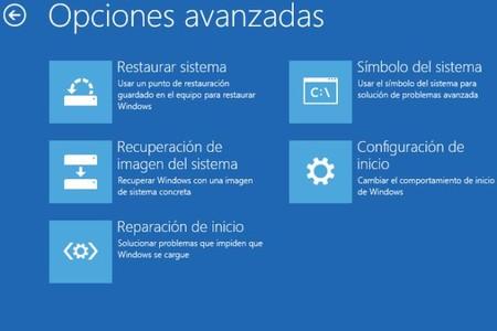 Opciones Arranque Avanzadas Windows10