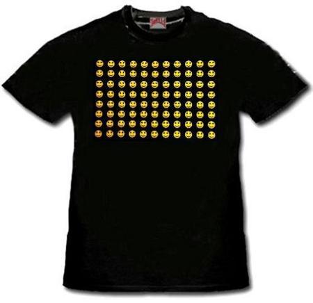 Camiseta con ecualizador de emoticones