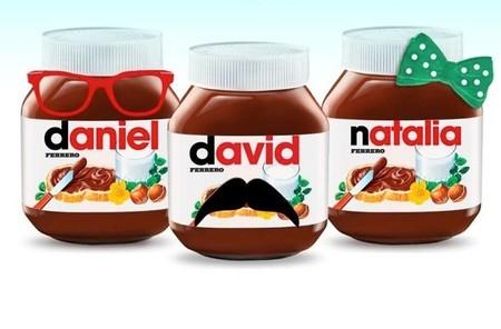 Las etiquetas personalizadas de Nutella con el nombre del dueño en el bote