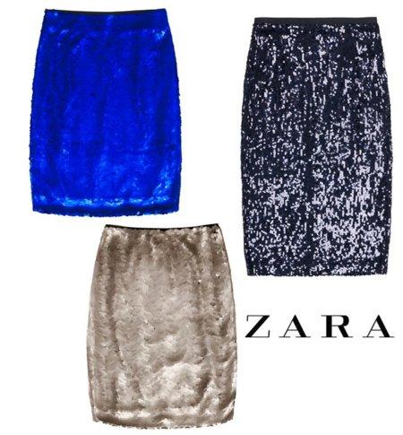 Zara falda navidad 2011