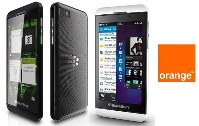 Todos los precios de la Blackberry Z10 con Orange