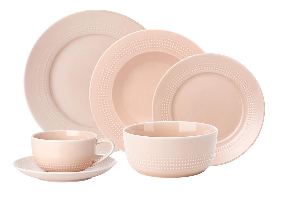 Vajilla de porcelana rosa