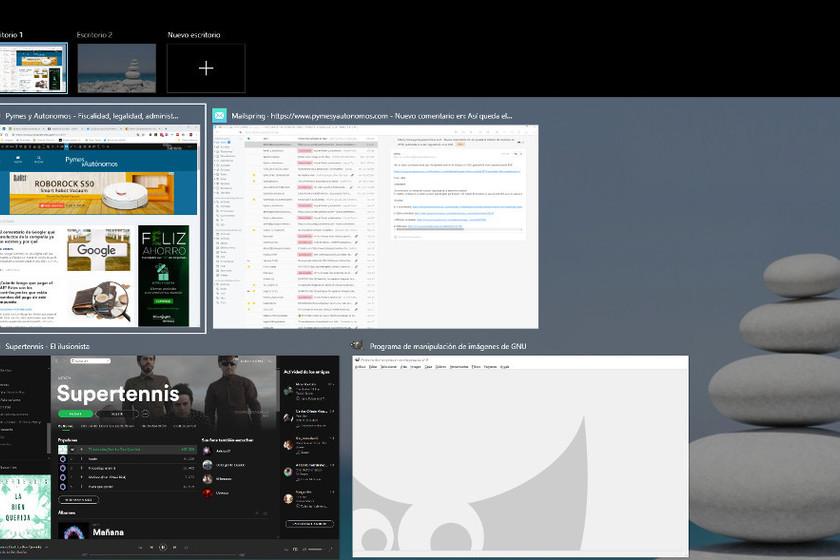 Cómo mejorar tu productividad con el uso de varios escritorios virtuales