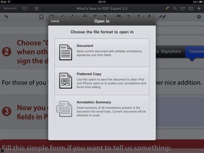Tipos de apertura de documento