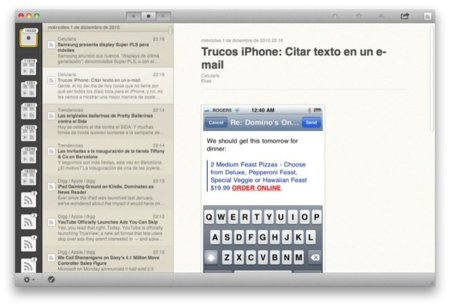 Reeder para Mac OS X ya disponible en forma de beta
