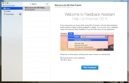 Cómo enviar feedback de OS X Yosemite a Apple