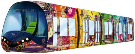 Christian Lacroix customiza la 3ª línea del tranvía de Montpellier