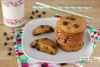 Galletas integrales con chips de chocolate y miel. Receta