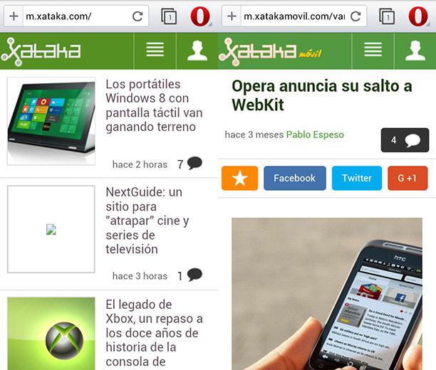 Opera 'WebKit' sale de beta