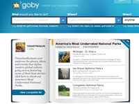 Goby, buscador de actividades de ocio en Estados Unidos