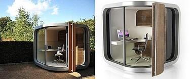 OfficePOD, una oficina futurista en el jardín