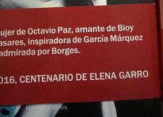 La vida de los escritores hombre si la escribiera el autor de esta faja sobre Elena Garro