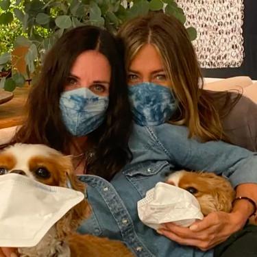 ''I'll be there for dog'': el entrañable reecuentro de súper 'Friends' de Jennifer Aniston, Courteney Cox y sus perros