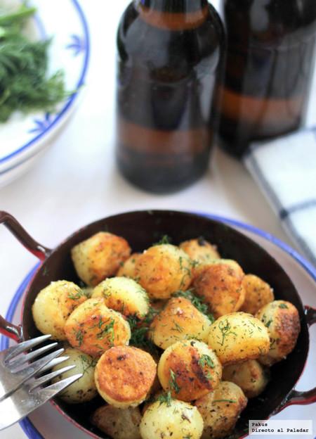 Bolitas de patata al estragón para acompañar los platos de pescado, la mejor receta de guanición