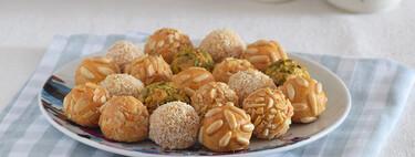 Panellets o dulces de boniato y almendra saludables: receta de postre sin azúcar y sin gluten