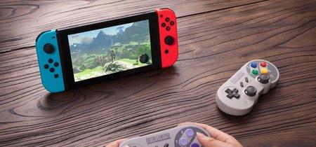 Nintendo Switch contará con dos mandos de SNES a finales de año gracias a 8Bitdo