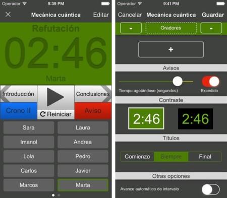 Crono, un cronómetro para debates y presentaciones