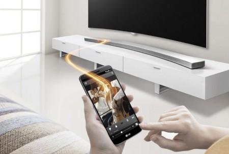 La HS8 es la nueva apuesta de LG por las barras de sonido curvas
