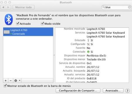 Configuración del teclado K760 en el MacBook Pro