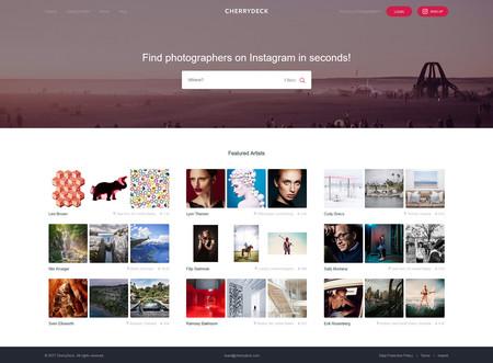 CherryDeck, una plataforma online basada en Instagram para darse a conocer o encontrar fotógrafos