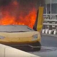 Dolorpasión™ es ver cómo un Lamborghini Aventador LP 750-4 Superveloce Roadster arde con sus propias llamas