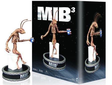 El gusano de la edición especial en Blu-ray de la trilogía Men In Black