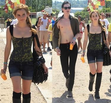Preparados, listos, ya. Comienza Glastonbury 2010. Primeras imágenes de Kate Moss, Pixie y Emma Watson