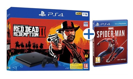 El Black Friday de eBay te deja la PS4 Slim de 1 TB con Red Dead Redemption II y Spiderman por sólo 289,95 euros