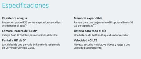 Especificaciones Moto G 3