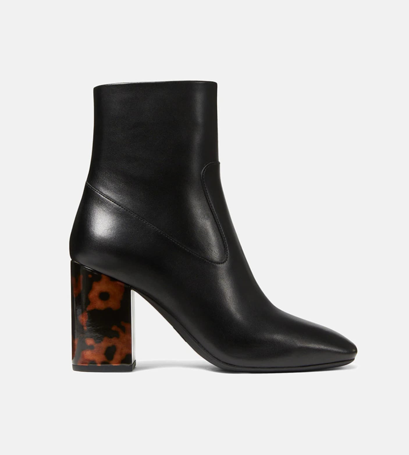 Botines de mujer Michael Michael Kors de color negro con tacón estampado