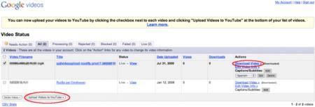 ¿Todavía tienes vídeos en Google Video? Puedes migrarlos a YouTube con dos clics