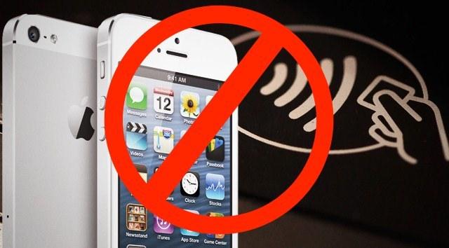 El iPhone 5 no tiene NFC